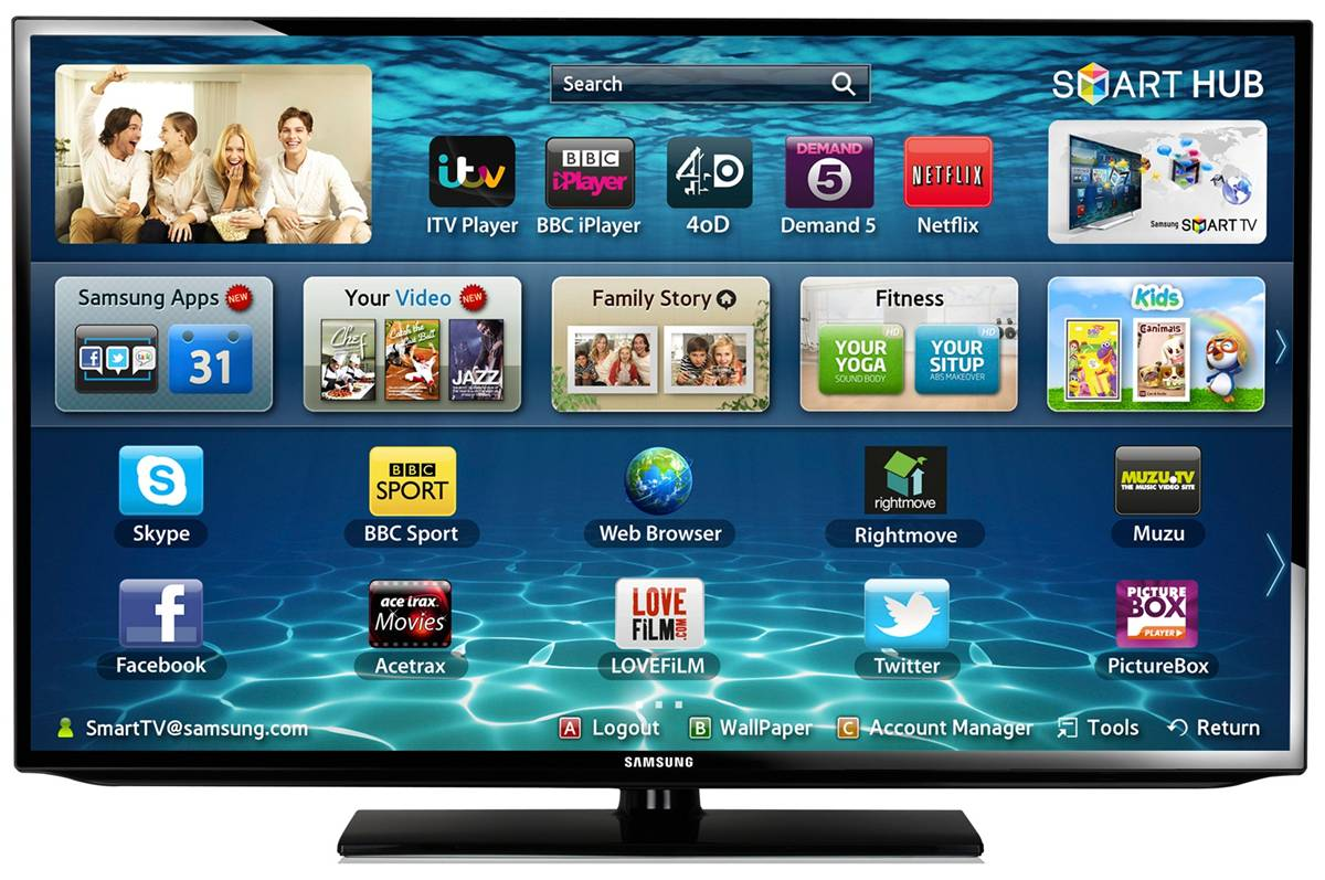 smart tv led samsung 101 cm full hd 40eh5450. Black Bedroom Furniture Sets. Home Design Ideas