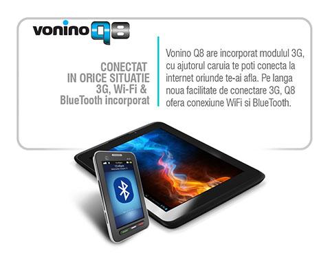 Tableta Vonino Q8 conectivitate 3G si GSM