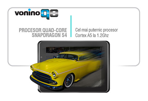 Tableta Vonino Q8 procesor