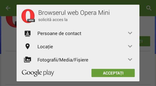 Ce acces cer aplicatiile Android la instalarea pe telefon sau tableta