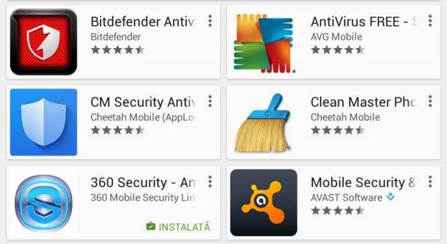 Antivirus Android pentru telefon sau tableta