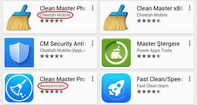 Confuzie aplicatii Android