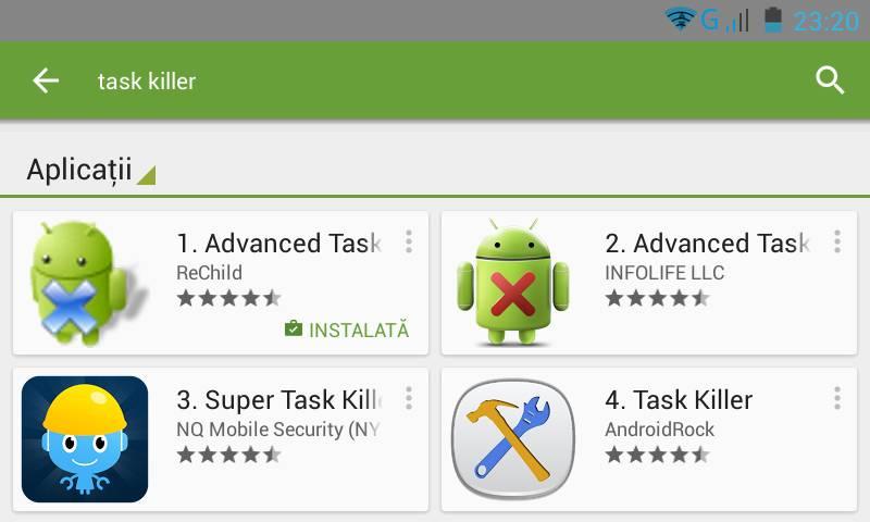 cautare-task-killer