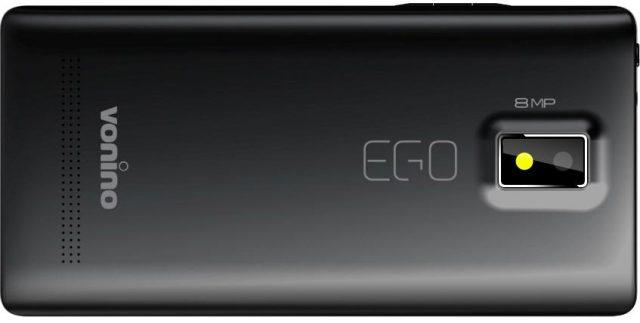 Telefon Vonino EGO QS capac spate si camera foto principala cu LED